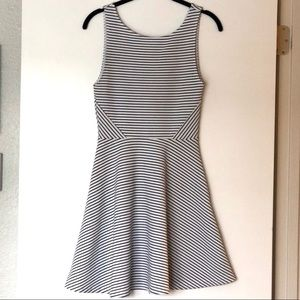 H&M Striped Dress w/ Circle Skirt